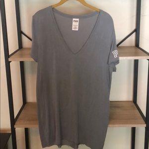 PINK Gray TShirt